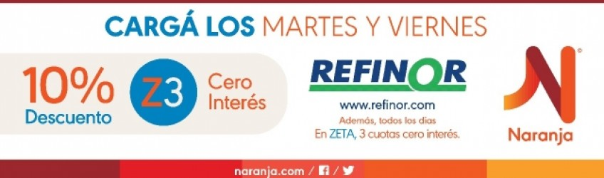 Promo Refinor y Tarjeta Naranja !